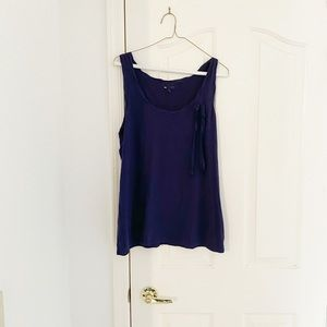 GAP Navy Blue Tank Top With Bow Detail